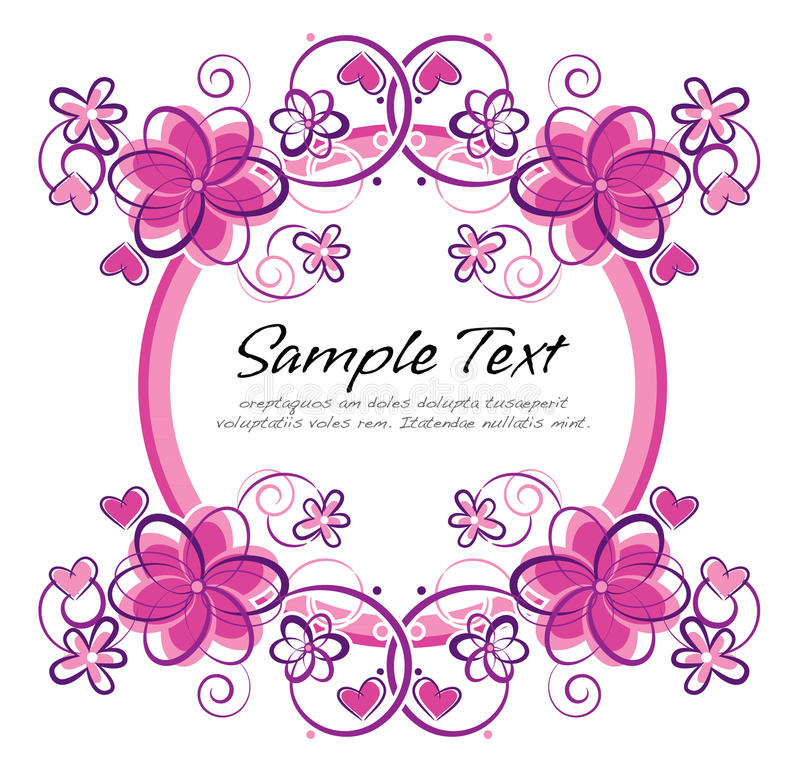 Download Floral layout stock vector. Image of illustration, abstract - 24052971