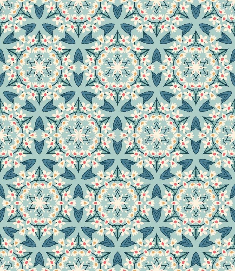 Free Floral Leaf Mosaic Motif Scandi Seamless Pattern. Folk Art Nature Foliage Textile. Modern Ornate Victorian Leaves Style Home Decor Royalty Free Stock Photos - 158946668