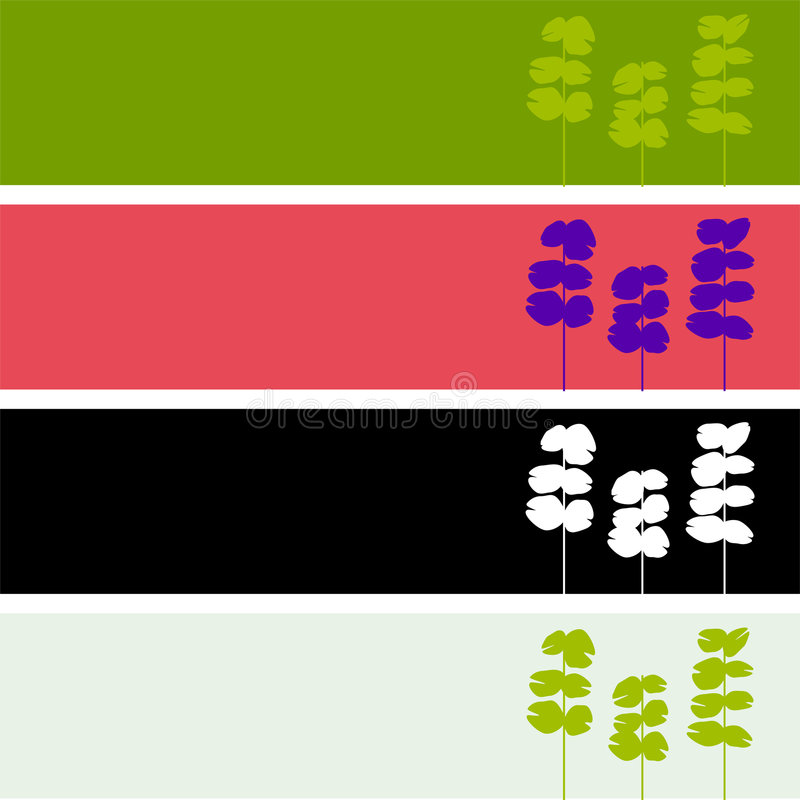 Free Floral Leaf Web Banners Royalty Free Stock Photography - 9353657