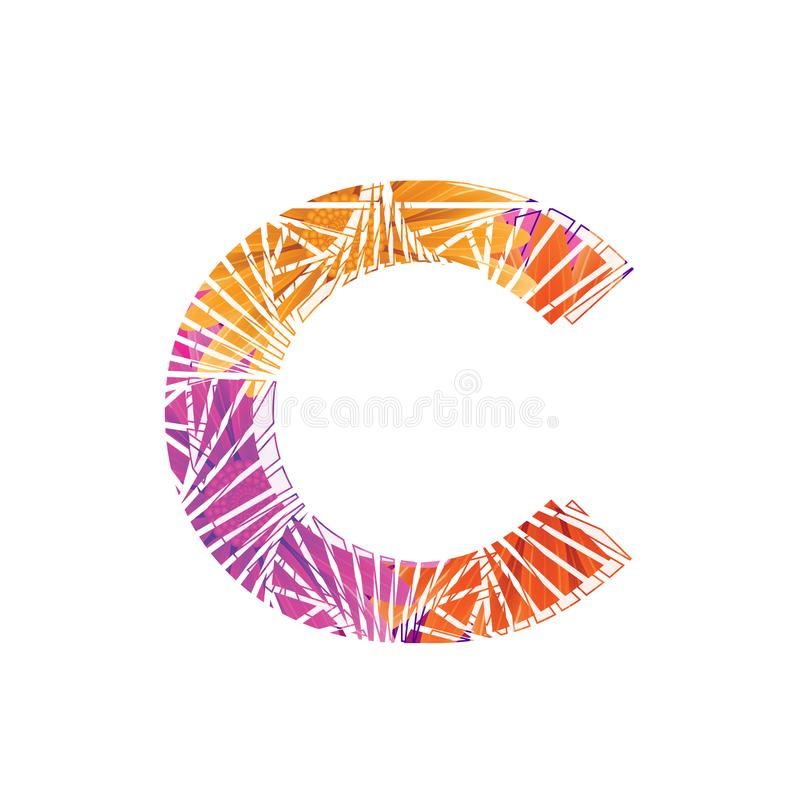 Floral Letter C design template. Mother`s Das flower logo type design concept of Abstract alphabet logo. Floral Letter C conceptual design template for seasonal vector illustration
