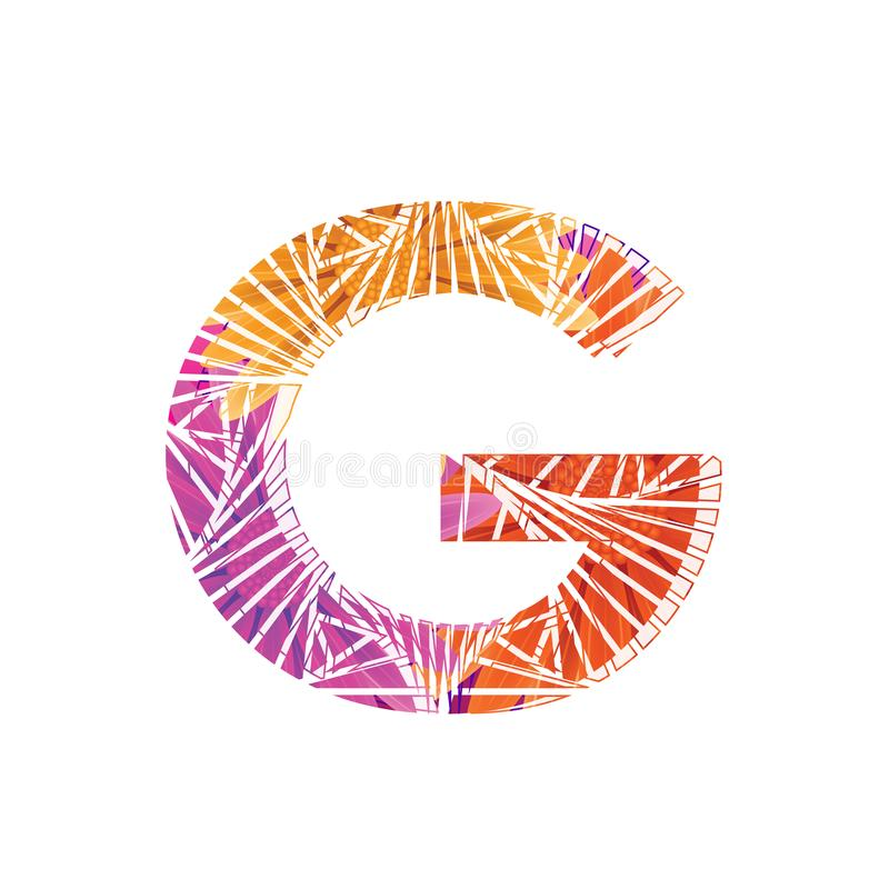 Floral Letter G design template. Mother`s Das flower logo type design concept of Abstract alphabet logo. Floral Letter G conceptual design template for seasonal stock illustration