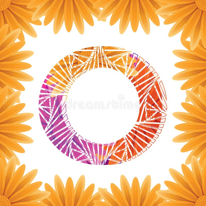 Floral Letter O design template. Mother's Das flower logo type design concept of Abstract alphabet logo royalty free stock image
