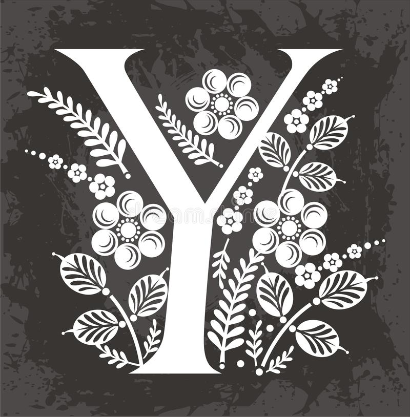 Download Floral letter Y stock photo. Image of letter, textures - 23988426