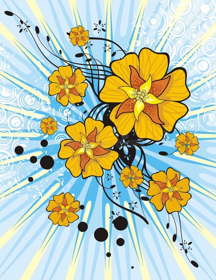 floral lightray ανασκόπησης ελεύθερη απεικόνιση δικαιώματος
