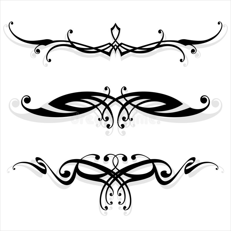 Floral_ lines. Vector ornament In flower style