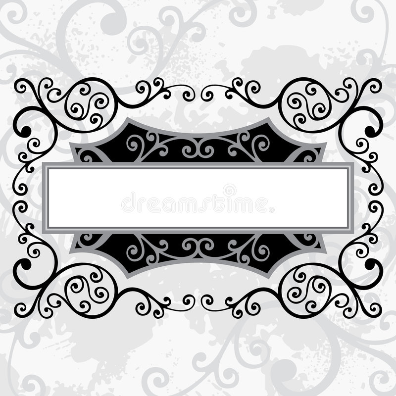 Floral lines royalty free illustration