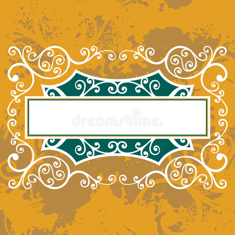 Floral lines vector illustration