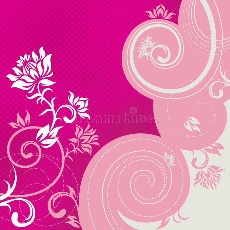 Floral_lines royalty illustrazione gratis