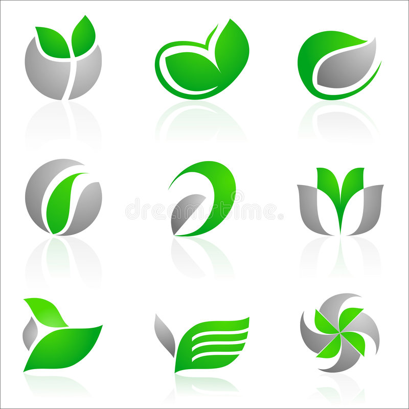 Floral logos vector illustration