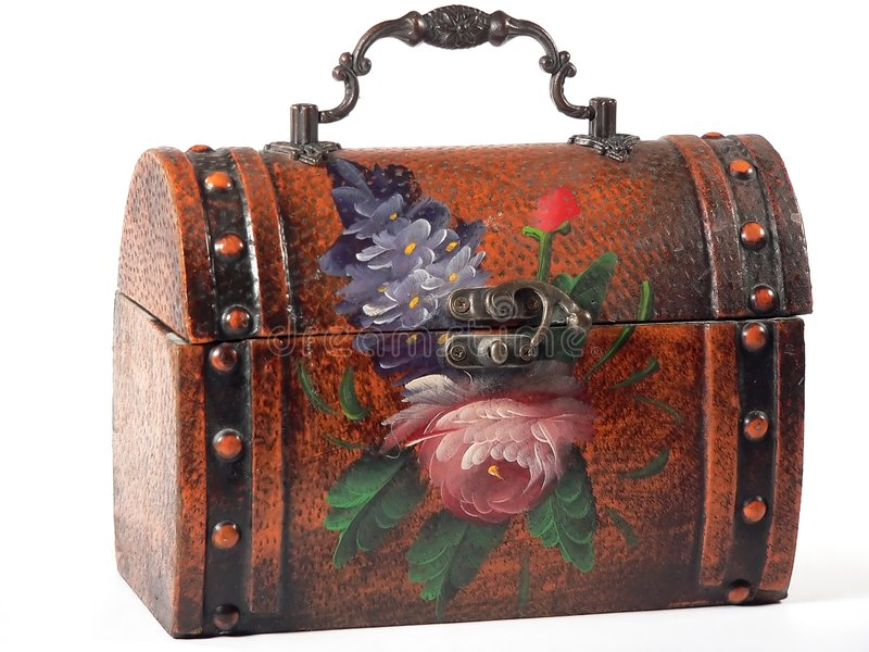 Floral Lunchbox royalty free stock photos