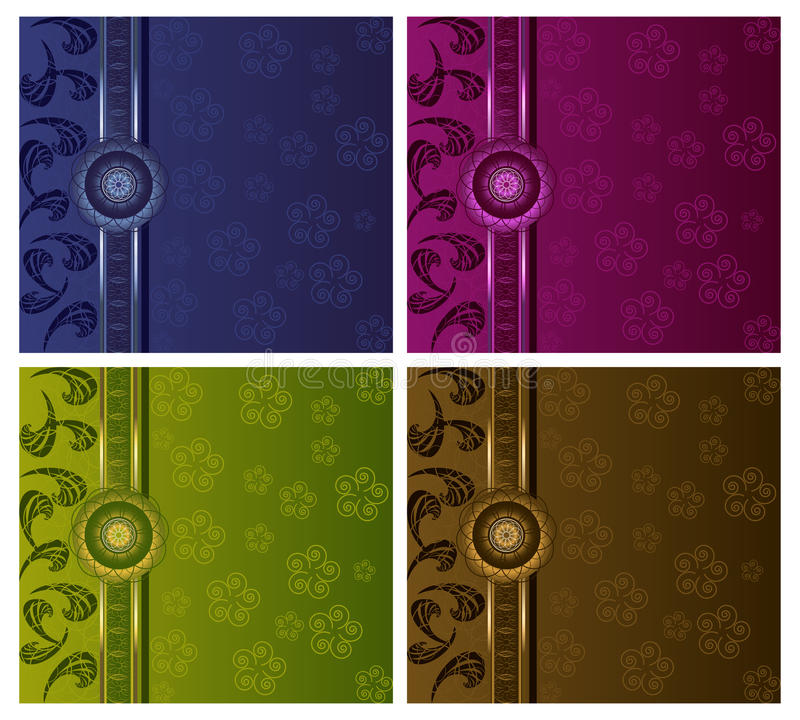 Download Floral Luxury Backgrounds Set Royalty Free Stock Images - Image: 15174159