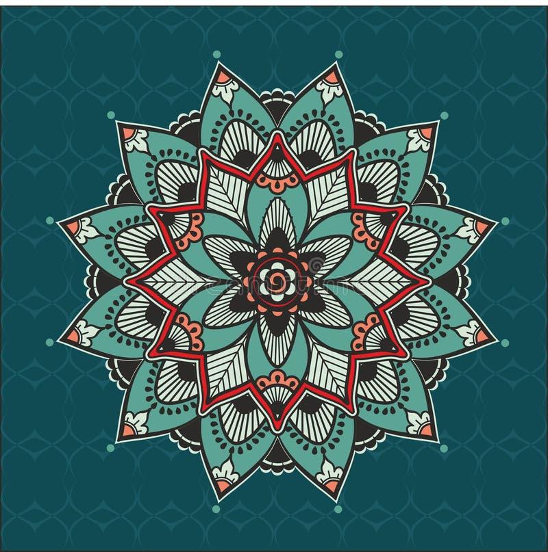 Floral mandala διανυσματική απεικόνιση