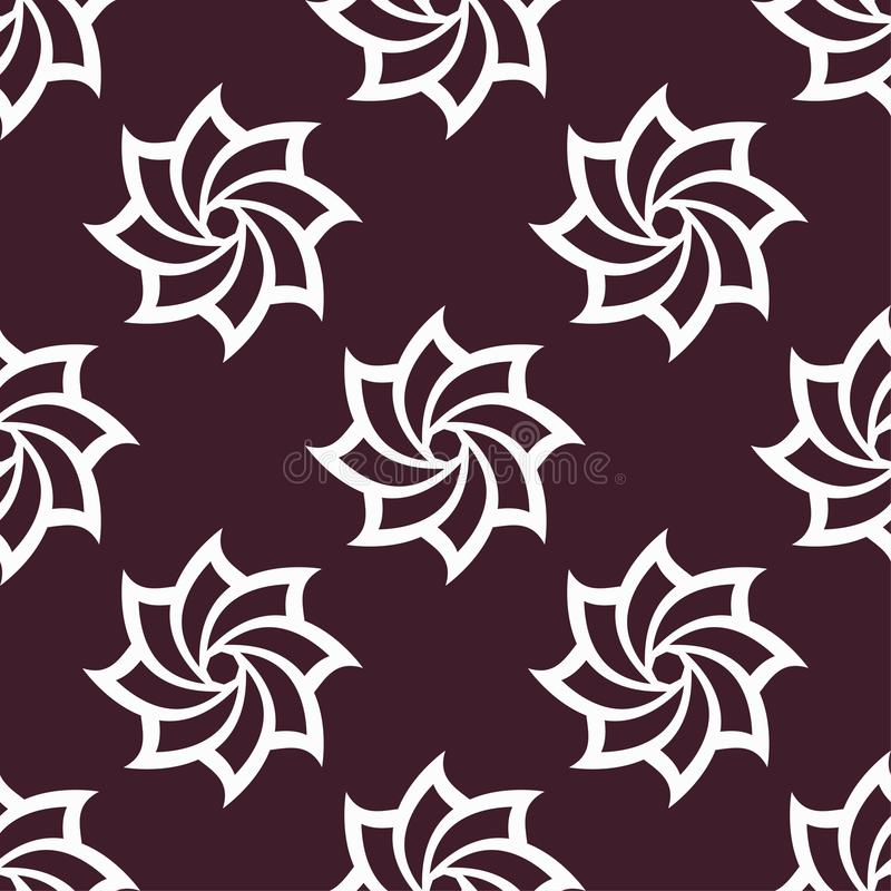 Floral maroon seamless pattern. Background with fower elements for wallpapers vector illustration