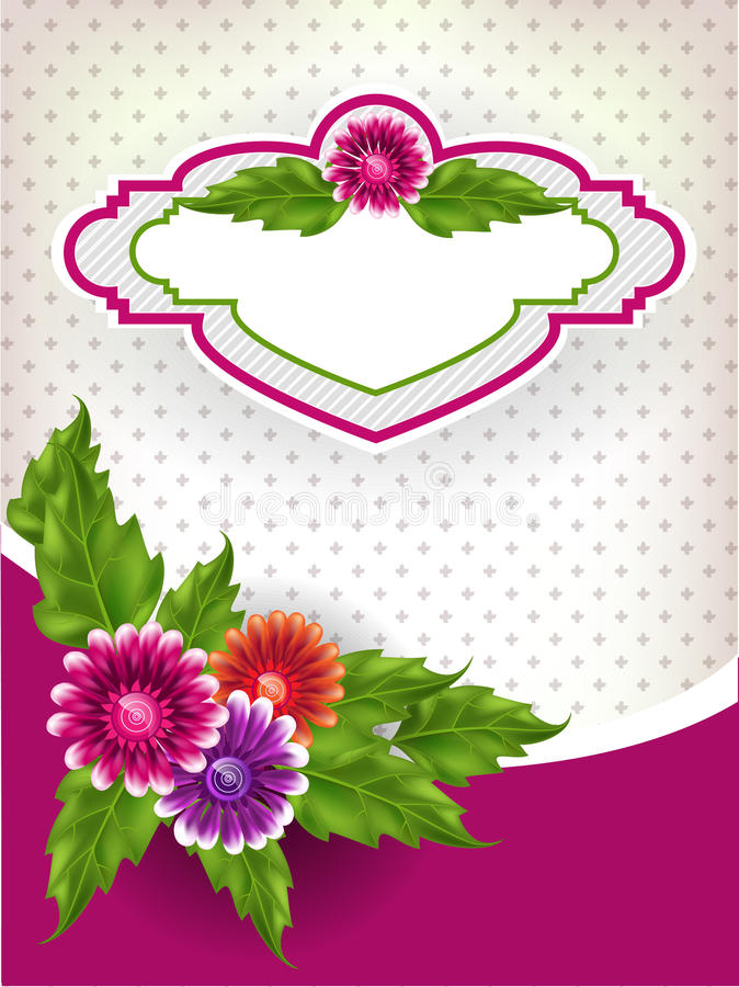 Floral Mesh Background Stock Image