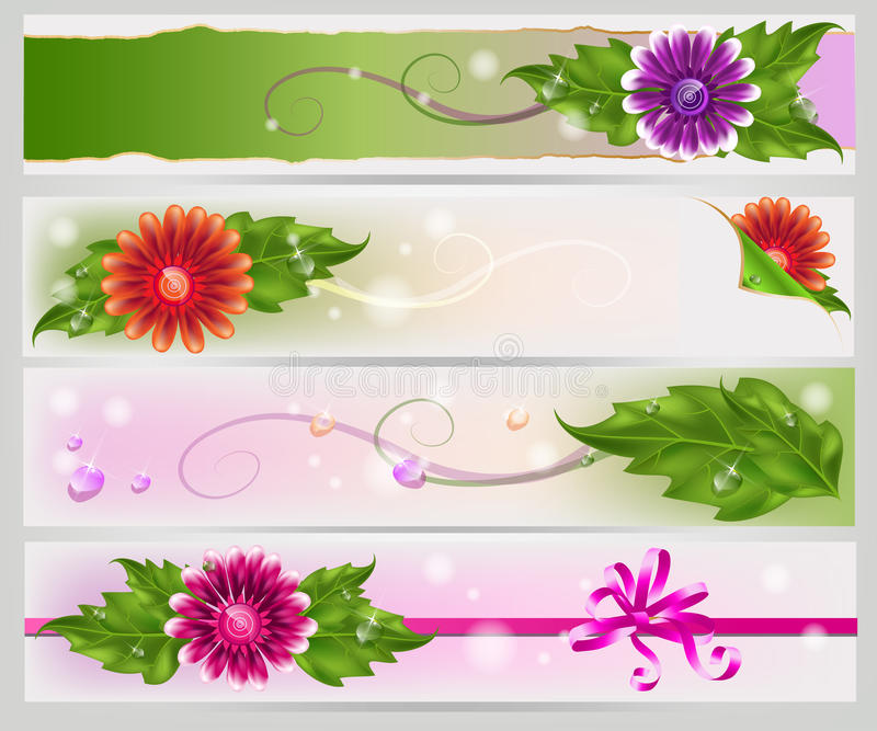 Download Floral mesh banners set stock vector. Image of natural - 23436797