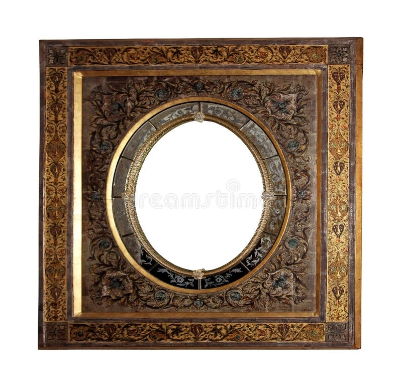 Floral metal frame stock photography