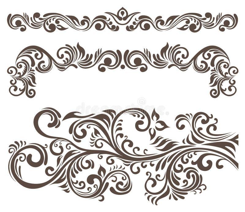 Floral motifs royalty free illustration