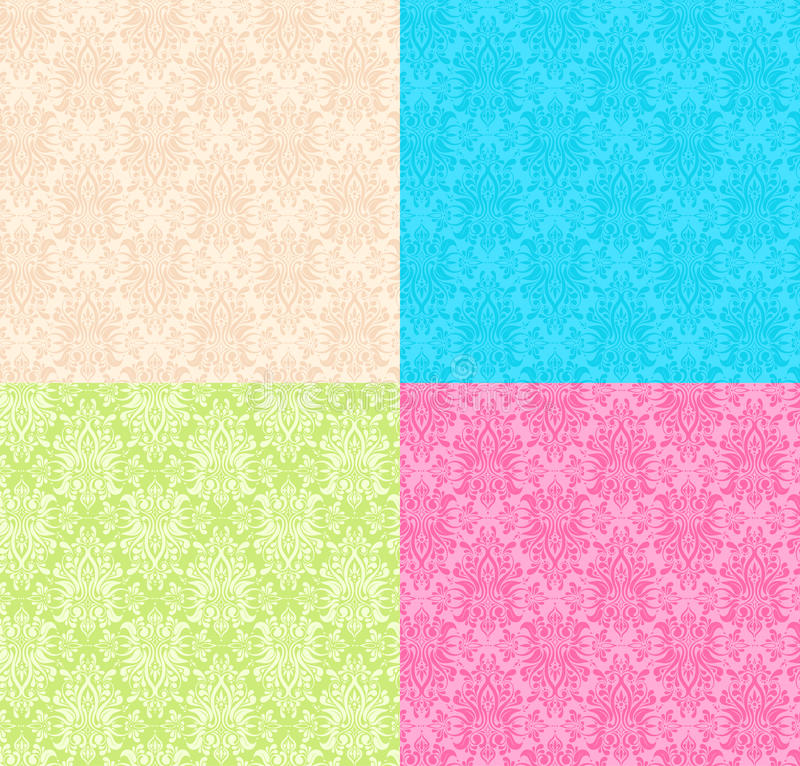 Floral multicolor Seamless patterns stock image