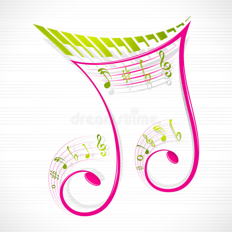 Download Floral Musical Note stock vector. Image of design, creative - 24409022