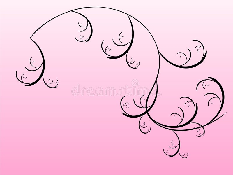 Floral na cor-de-rosa ilustração do vetor