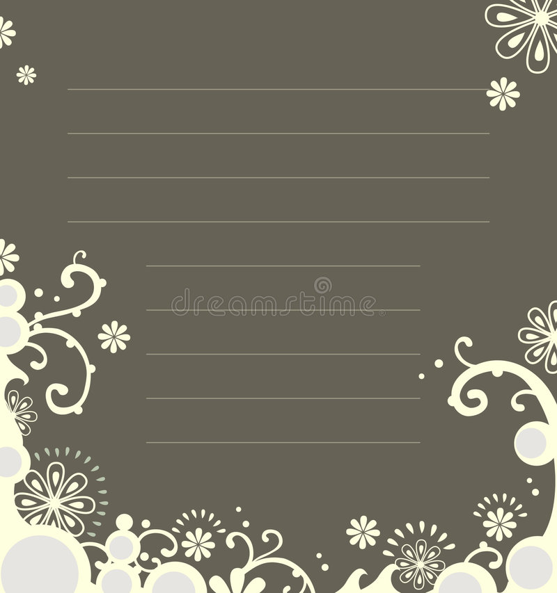 Floral notebook template royalty free illustration