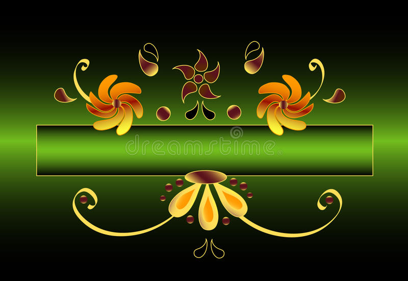Floral Oramental Motive Stock Images