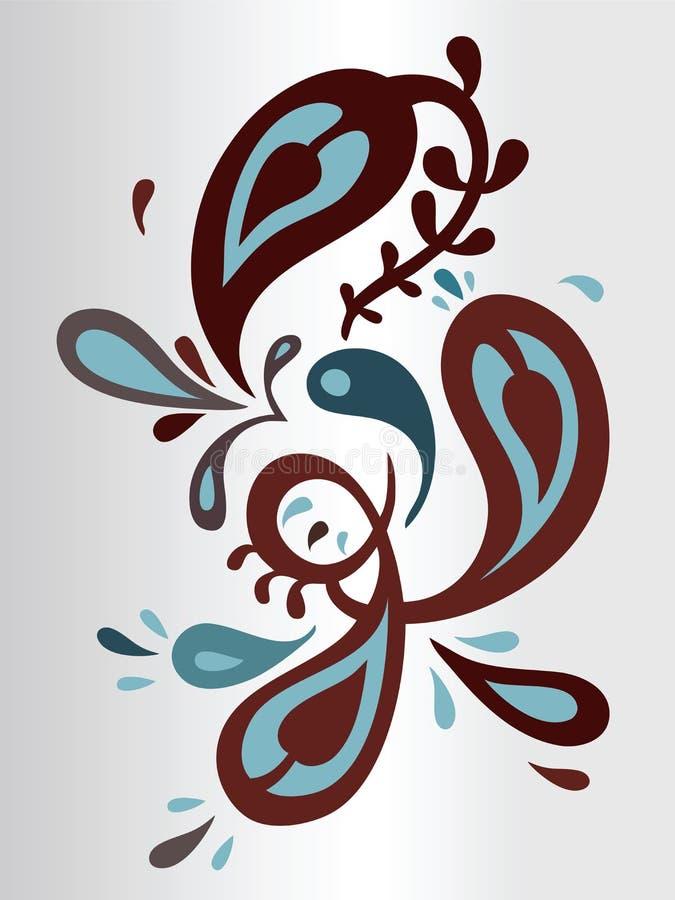 Floral ornament royalty free illustration