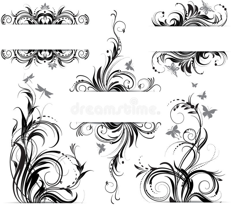 Download Floral ornament stock vector. Image of flores, shape - 23866969