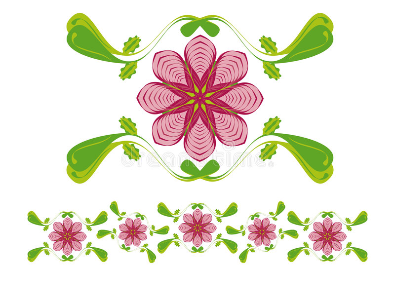 Floral ornament vector illustration