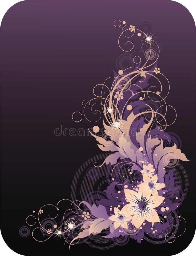 Floral ornament royalty free stock photography