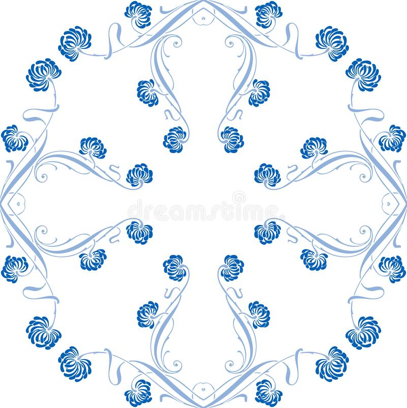 Download Floral ornament stock illustration. Image of flower, pattern - 5057664