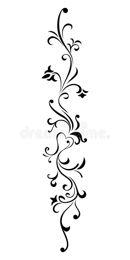 Floral ornament stock images