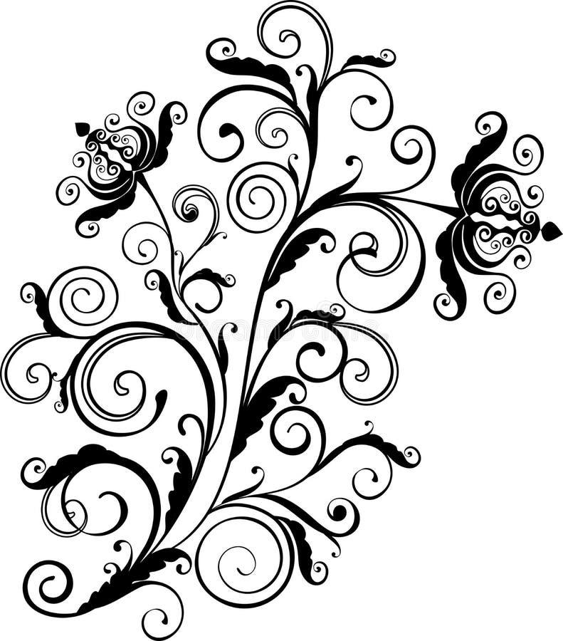 Download Floral ornament stock vector. Image of curve, illustration - 8312483