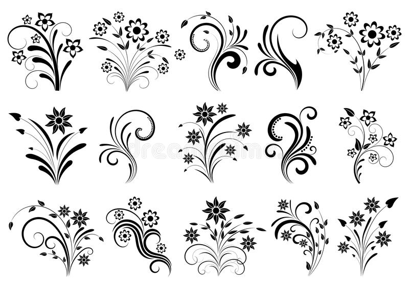 Floral ornament. On a white background royalty free illustration