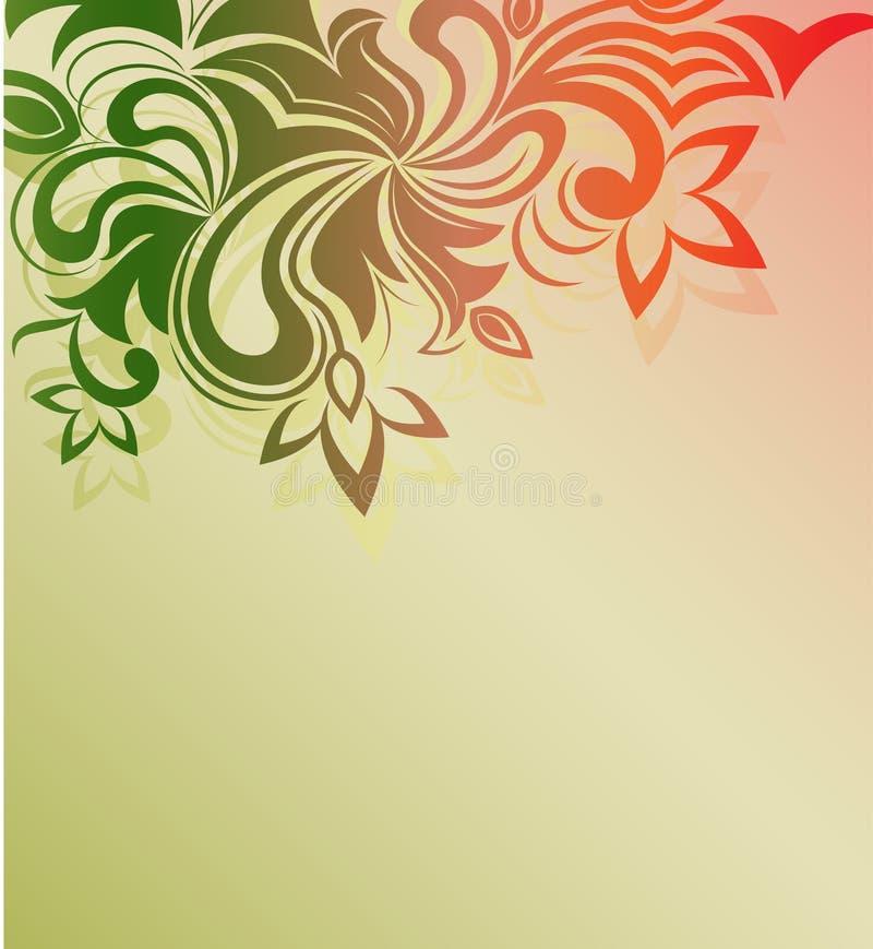 Floral ornament background