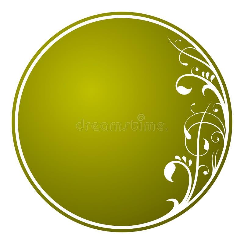 Floral ornament circle card