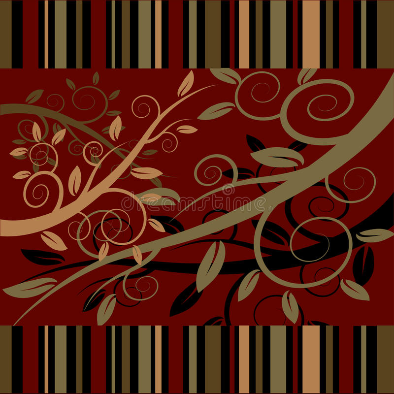 Download Floral Ornament On A Dark Red Background Stock Vector - Image: 21831973