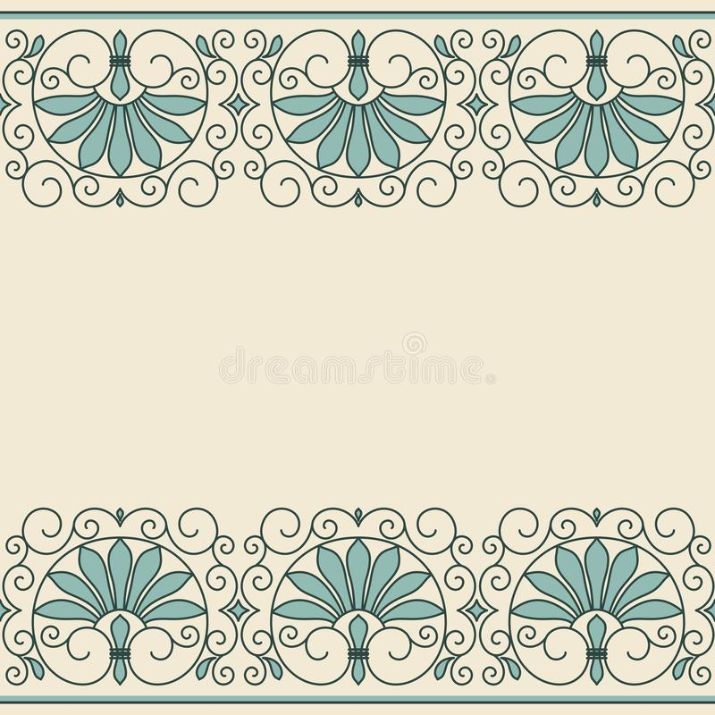 Floral ornament greek style. royalty free illustration