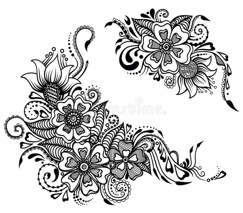 Floral ornament in india stile stock photography