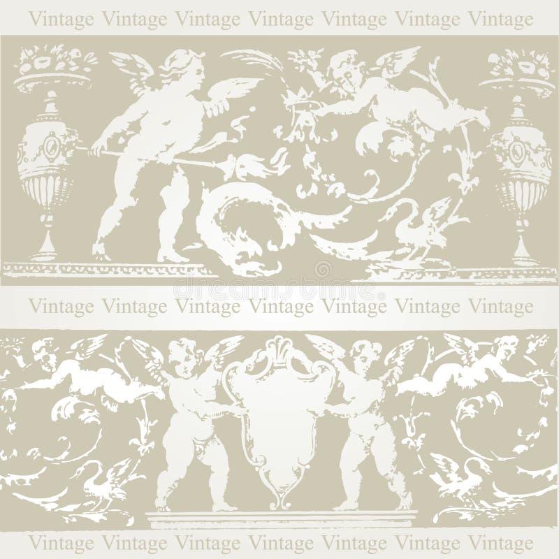 Floral ornament - vintage vector stock illustration
