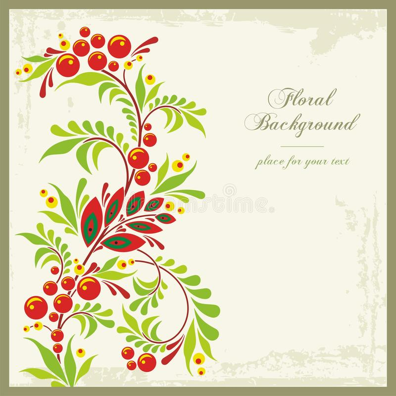 Free Floral Ornamental Background In Vintage Style Royalty Free Stock Photos - 23822668