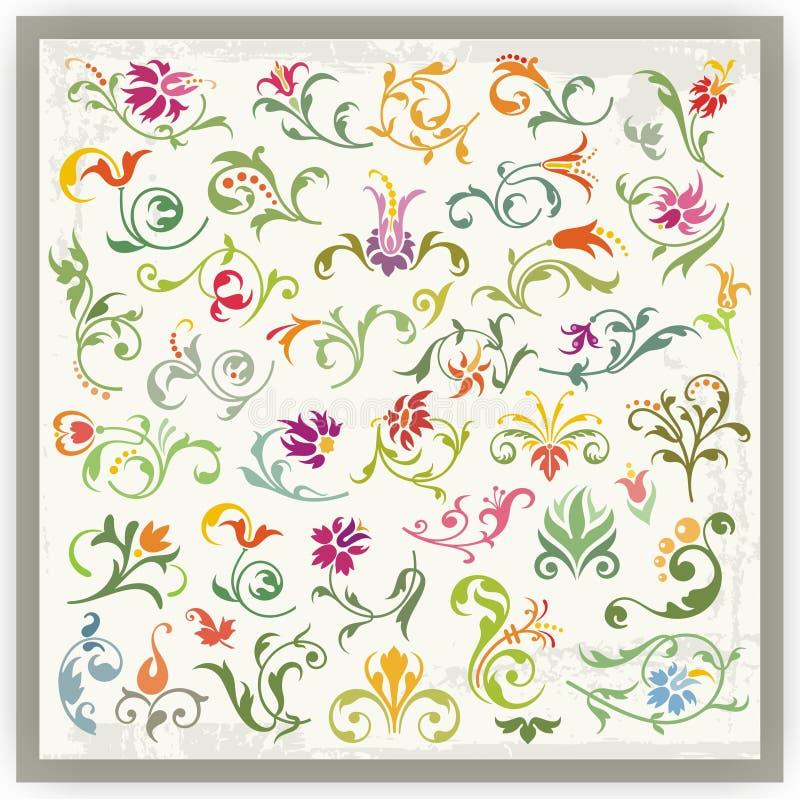Download Floral Ornamental Designs Set Royalty Free Stock Photo - Image: 19728245