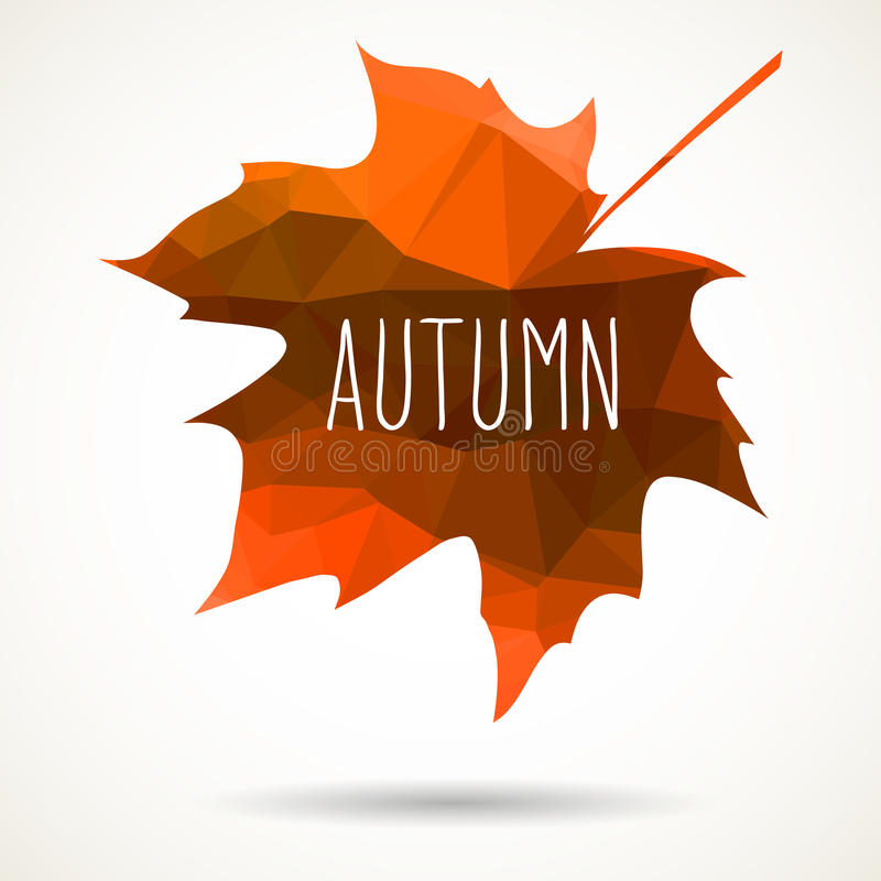 Fall triangular maple leaf royalty free illustration