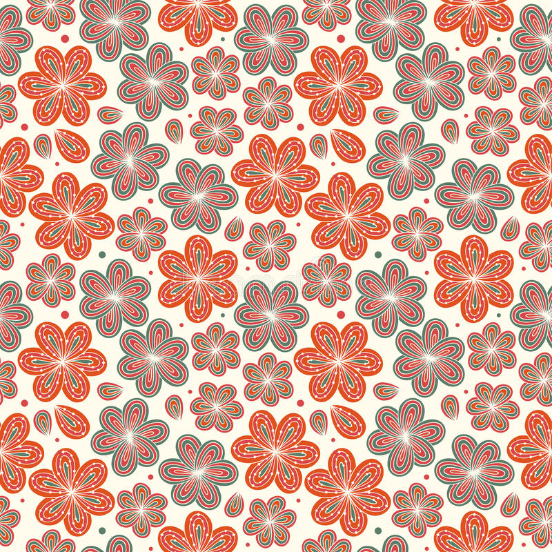 Floral ornamental seamless pattern Decorative nice flowers background Endless ornate texture stock illustration