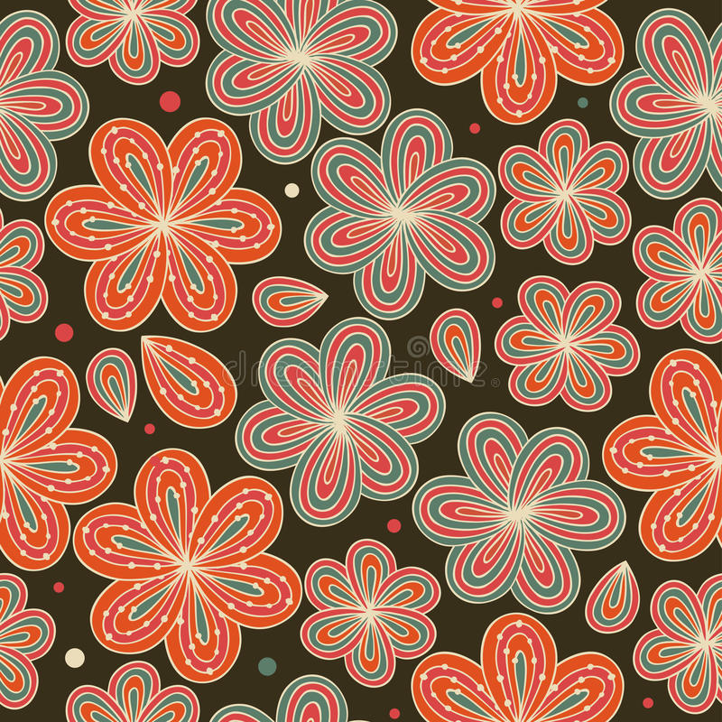 Floral ornamental seamless pattern Decorative nice flowers background Endless ornate texture vector illustration