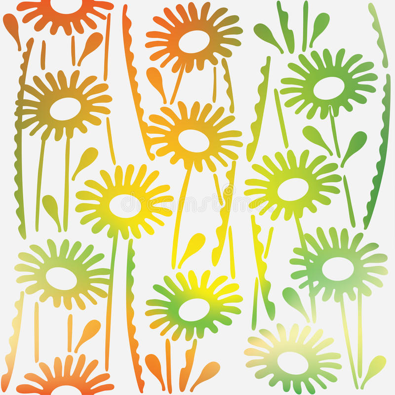 Floral ornamental texture with flowers Spring. Seamless pattern. stock illustration