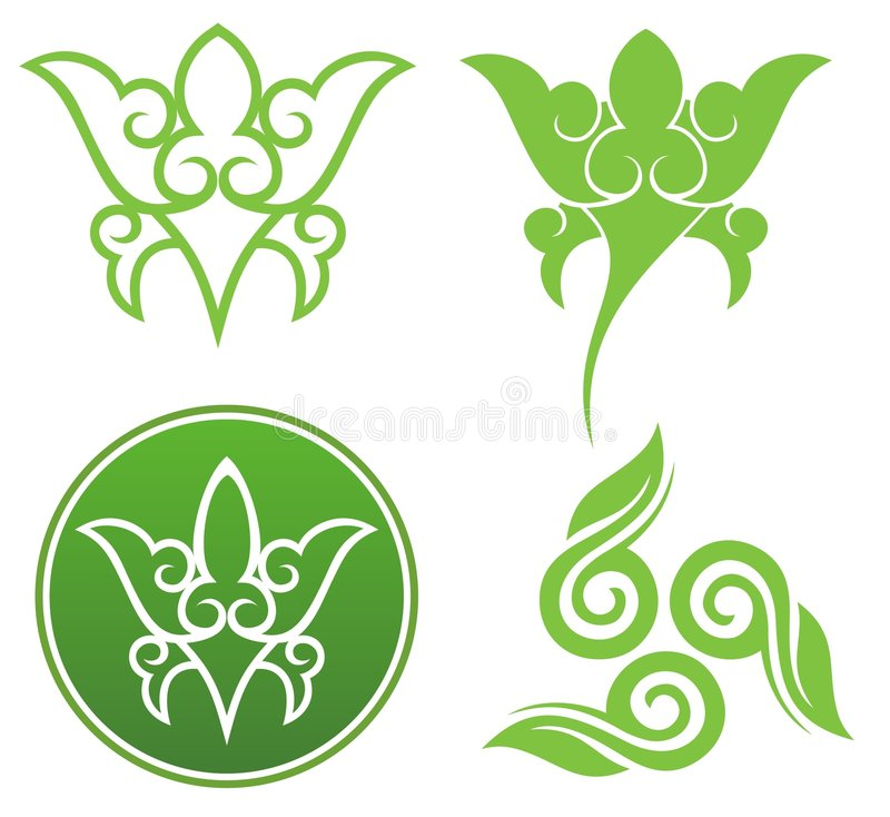 Download Floral ornaments stock vector. Image of artwork, beautiful - 7664716