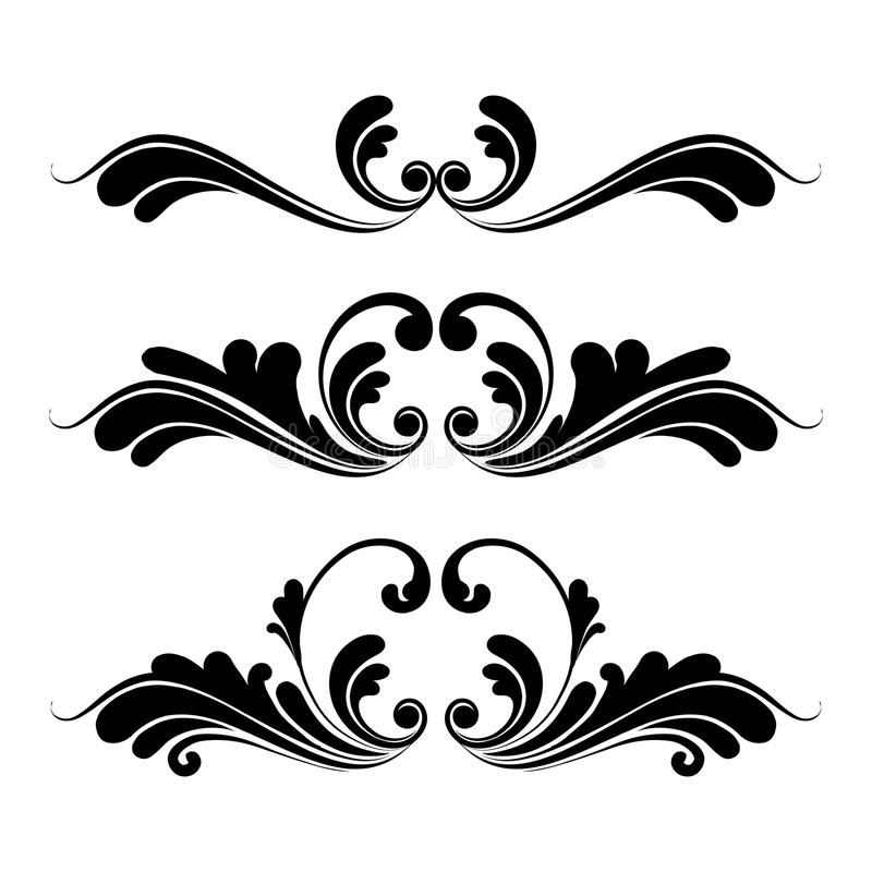 floral ornaments graphic design stock vector illustration of