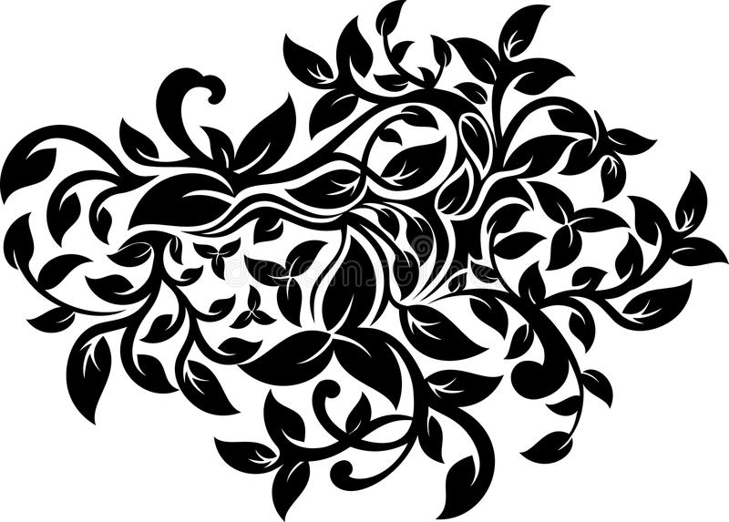 Floral ornate design royalty free stock photos