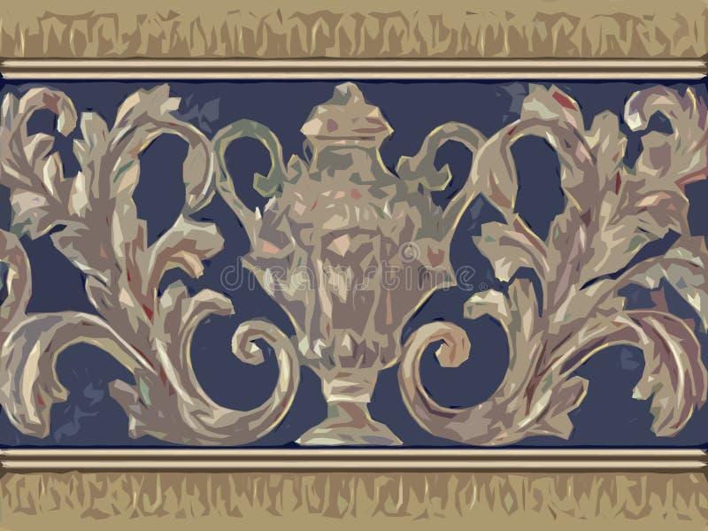 Floral ornemental abstrait illustration stock